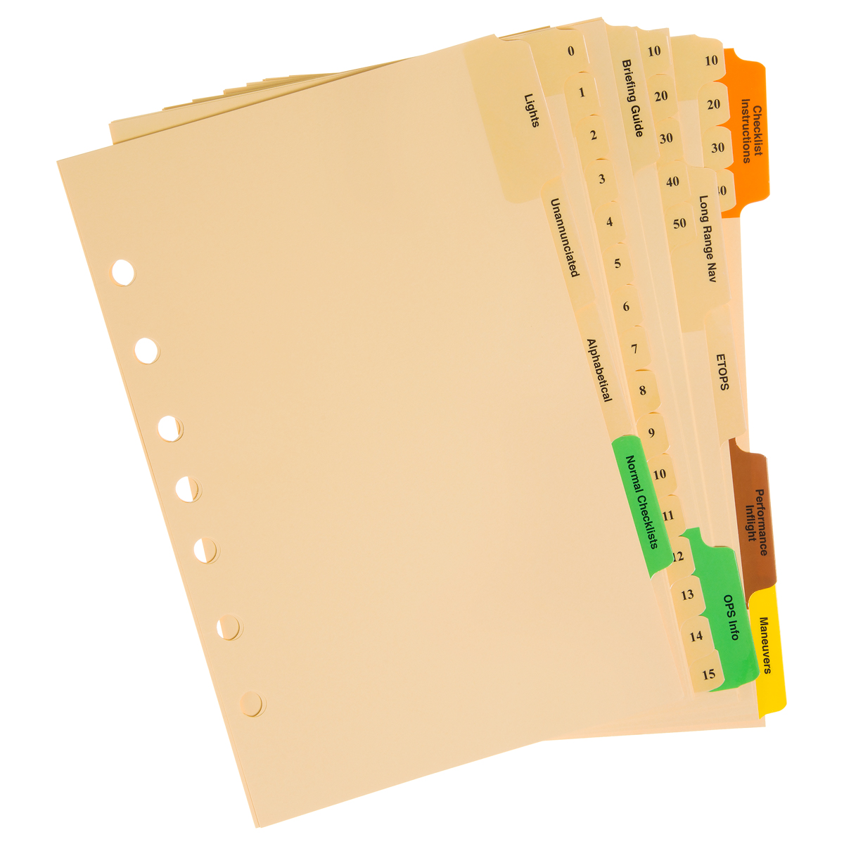 Boeing Compatible Pilot Checklist Dividers For